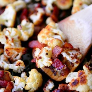 Bacon Roasted Cauliflower Recipe