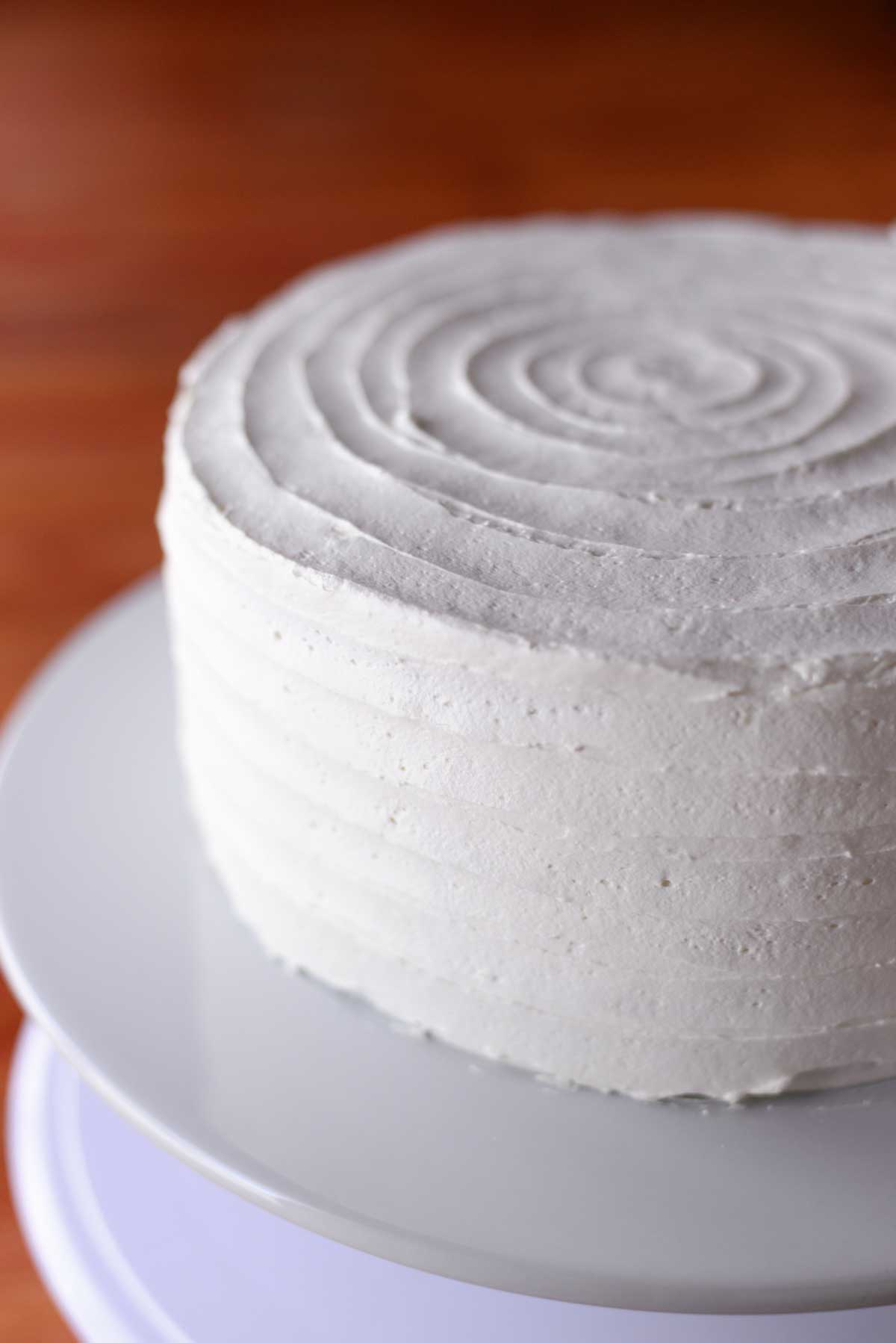 Frosted Ruffle Cake