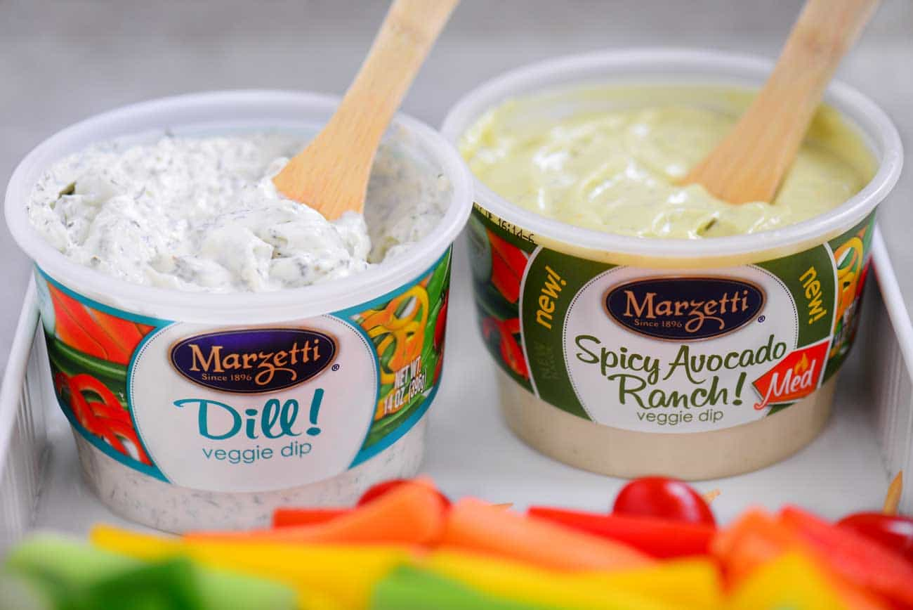 Marzetti Dips for Rainbow Veggie Kabobs