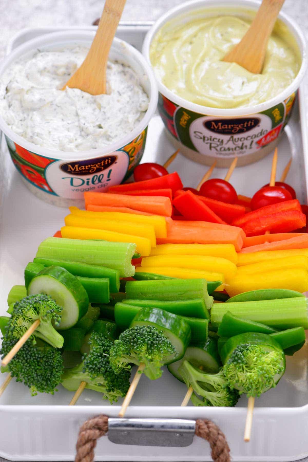 Rainbow Veggie Kabobs Tray