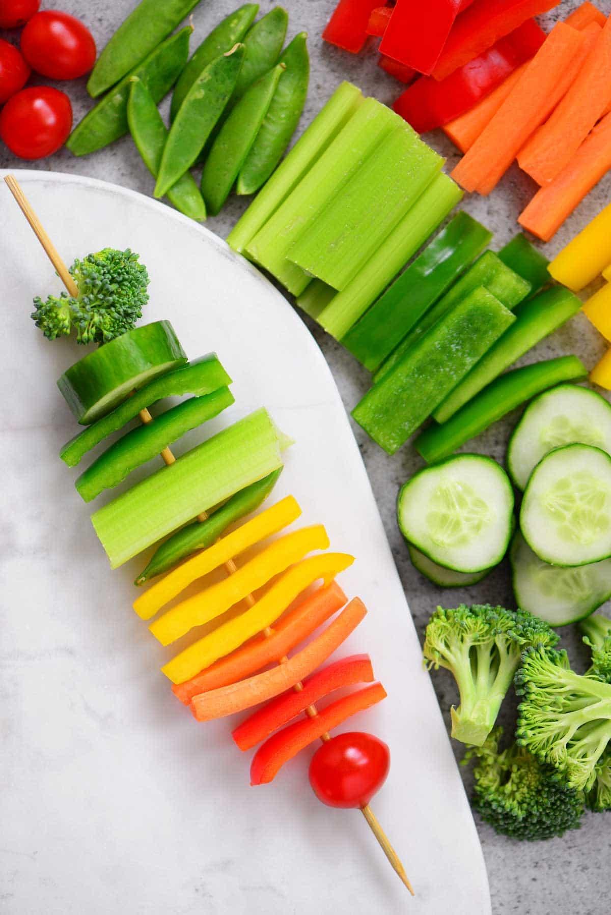 Rainbow Veggie Kabobs