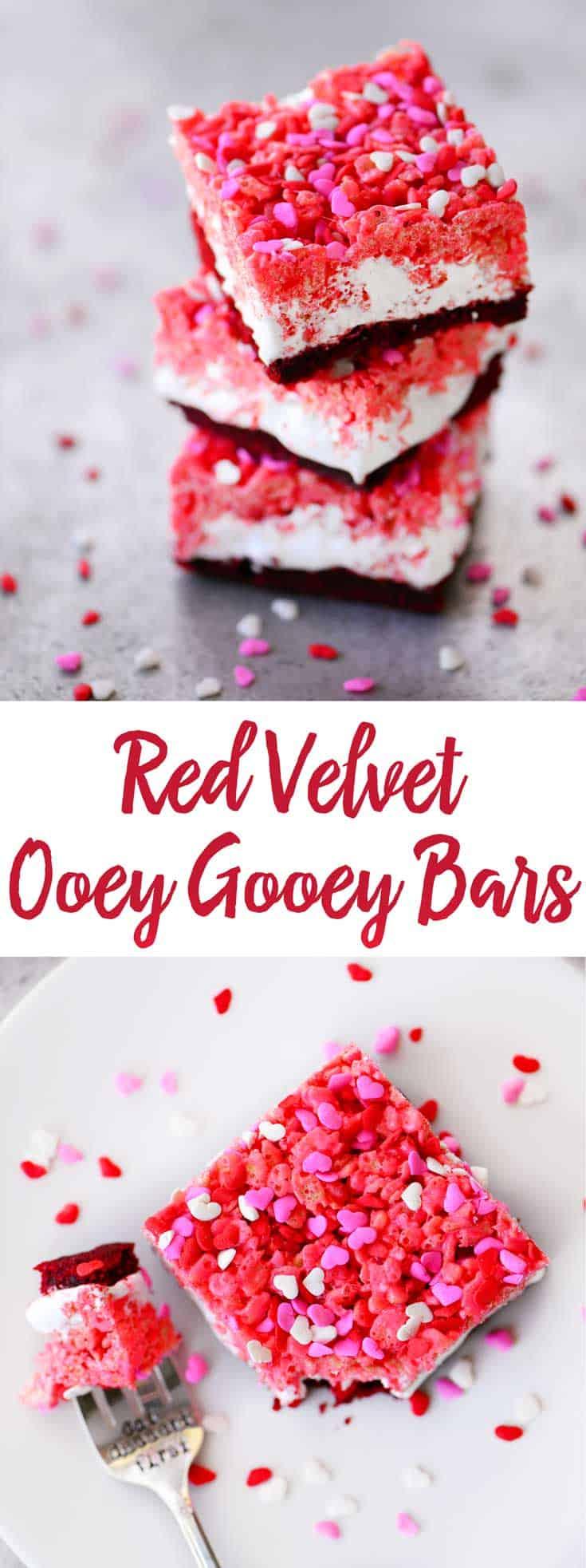 Red Velvet Ooey Gooey Bars