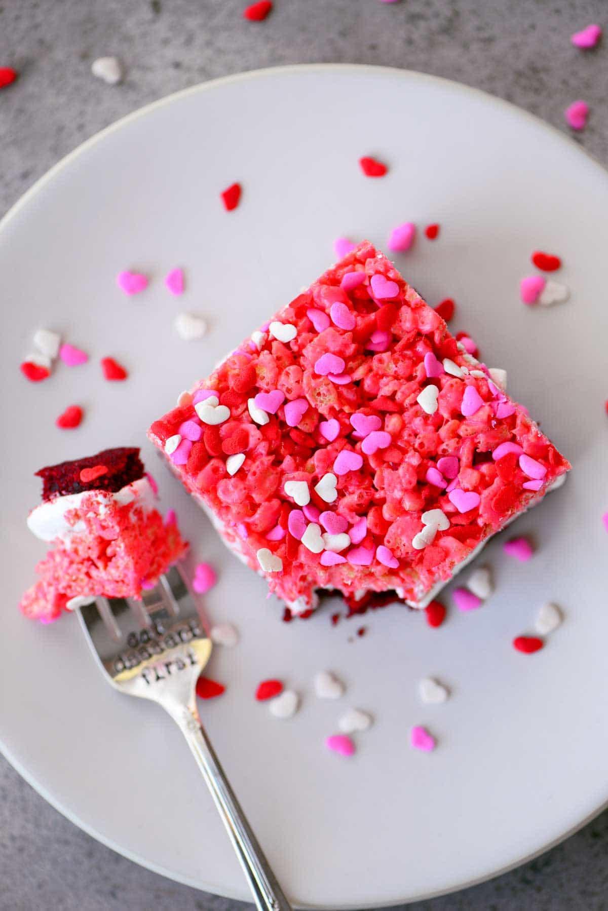 slice of Red Velvet Ooey Gooey Bars