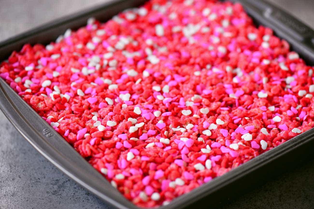 Red Velvet Rice Krispies Treats Ooey Gooey Bars