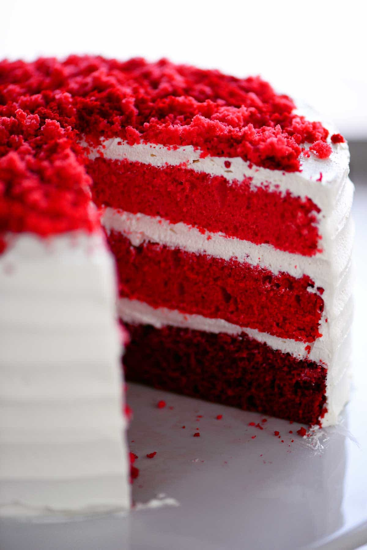 Sweetheart Cake with Ombre Layers