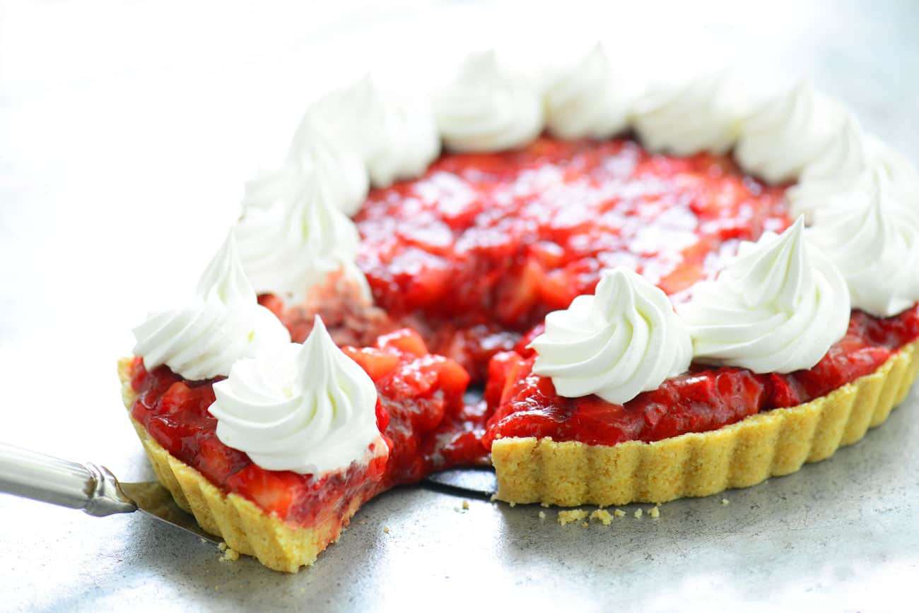 slice of Fresh Strawberry Pie