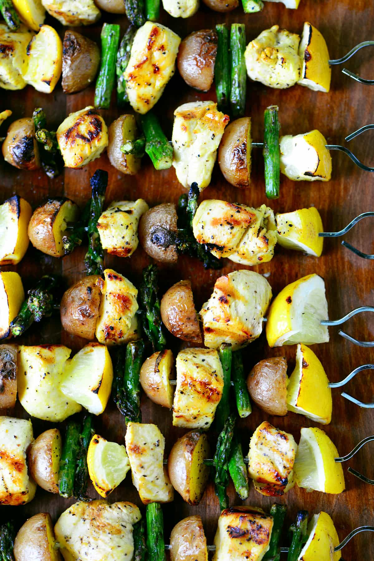 Grilled Lemon Pepper Chicken Kabobs