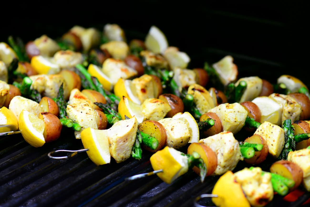 Lemon Pepper Grilled Chicken Kabobs