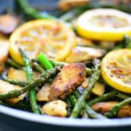 One Pan Lemon Chicken with Asparagus