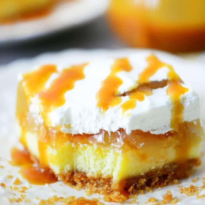 Caramel Apple Cheesecake Dessert