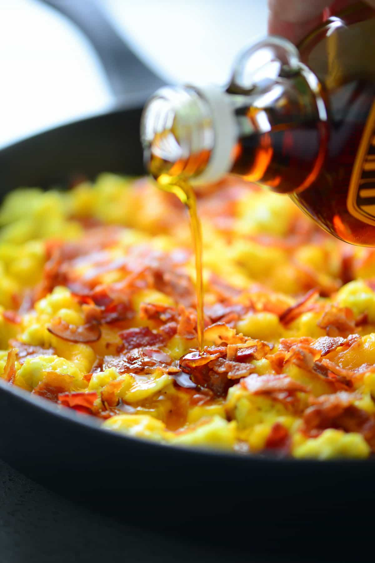 Pancake Breakfast Pizza with Maple Syrup