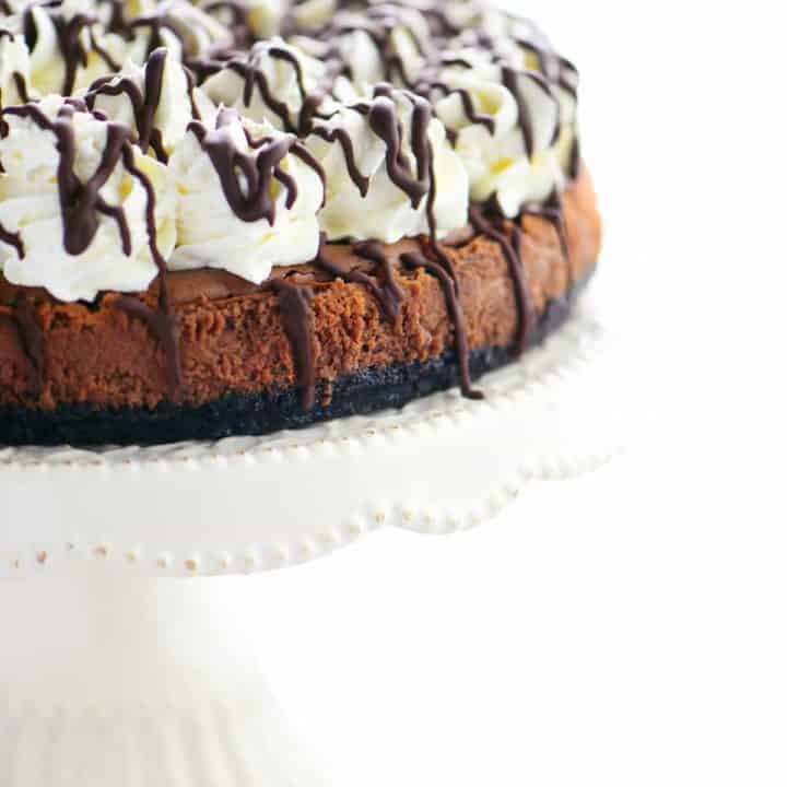 Chocolate Drizzle Triple Chocolate Mousse Cheesecake