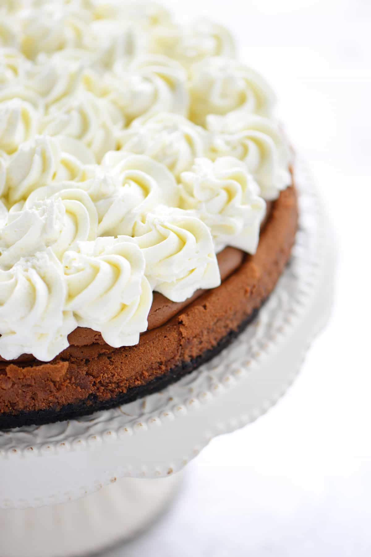 Triple Chocolate Mousse Cheesecake Whipped Cream