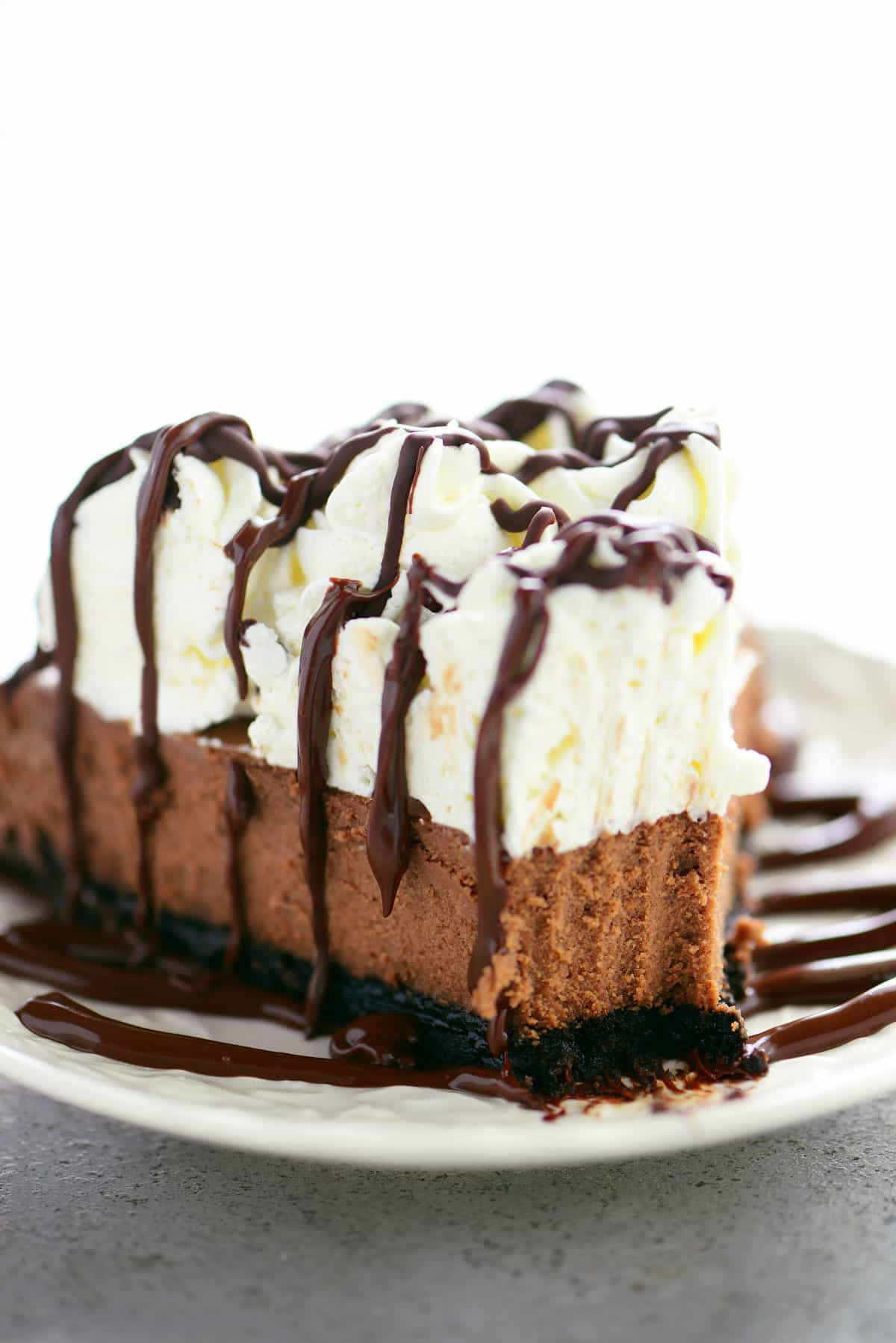 Triple Chocolate Mousse Cheesecake