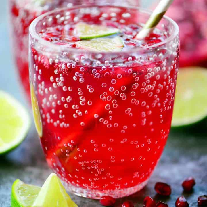 Pomegranate Lime Holiday Punch