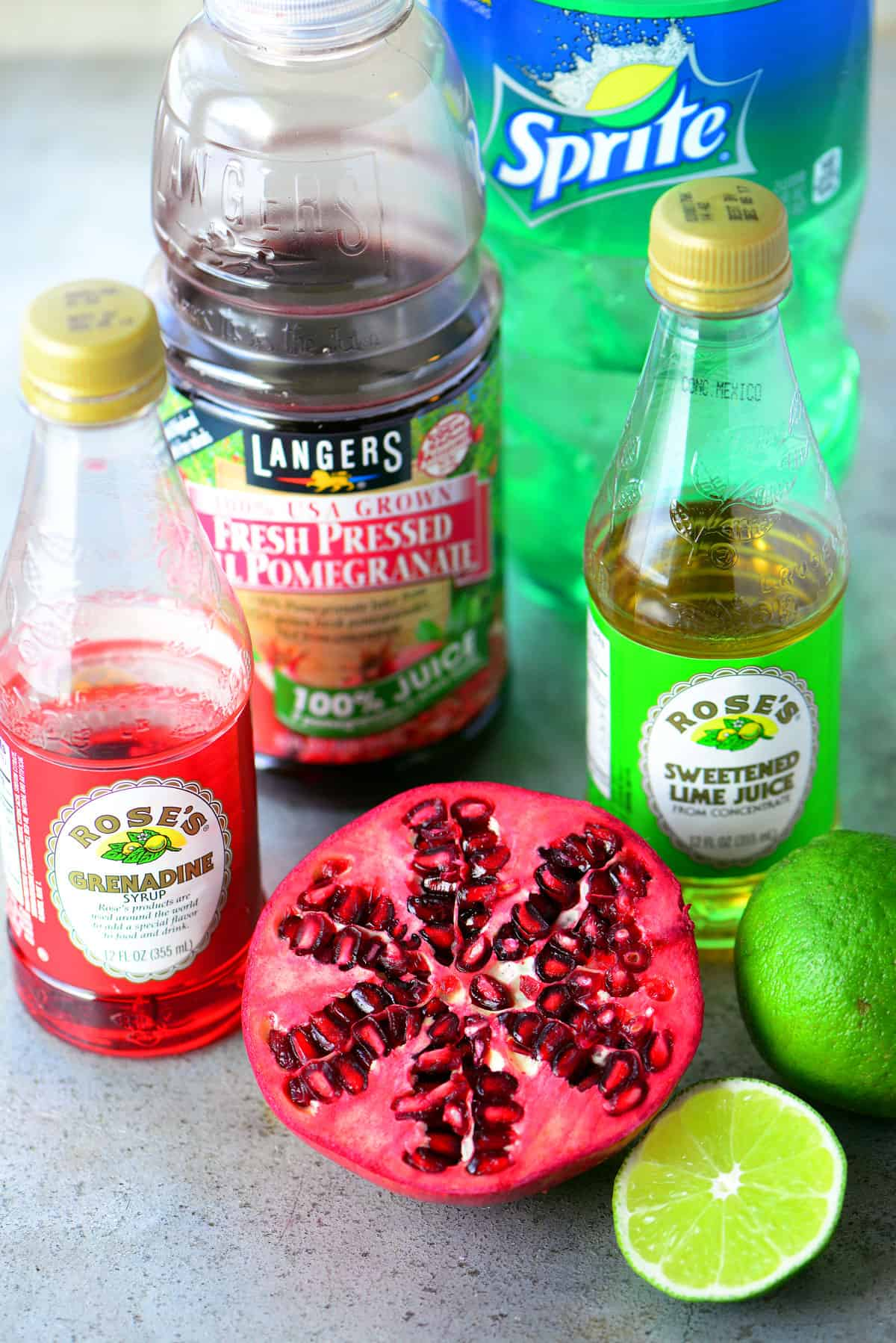 Pomegranate Lime Holiday Punch Ingredients