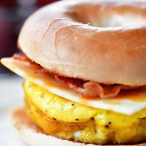 Bacon Egg Cheese Bagel Sandwich
