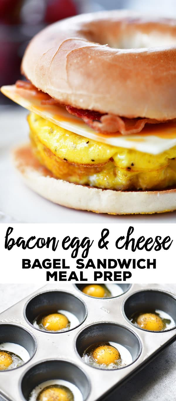 Bacon Egg Cheese Bagel Sandwich Meal Prep Recipe - The ...