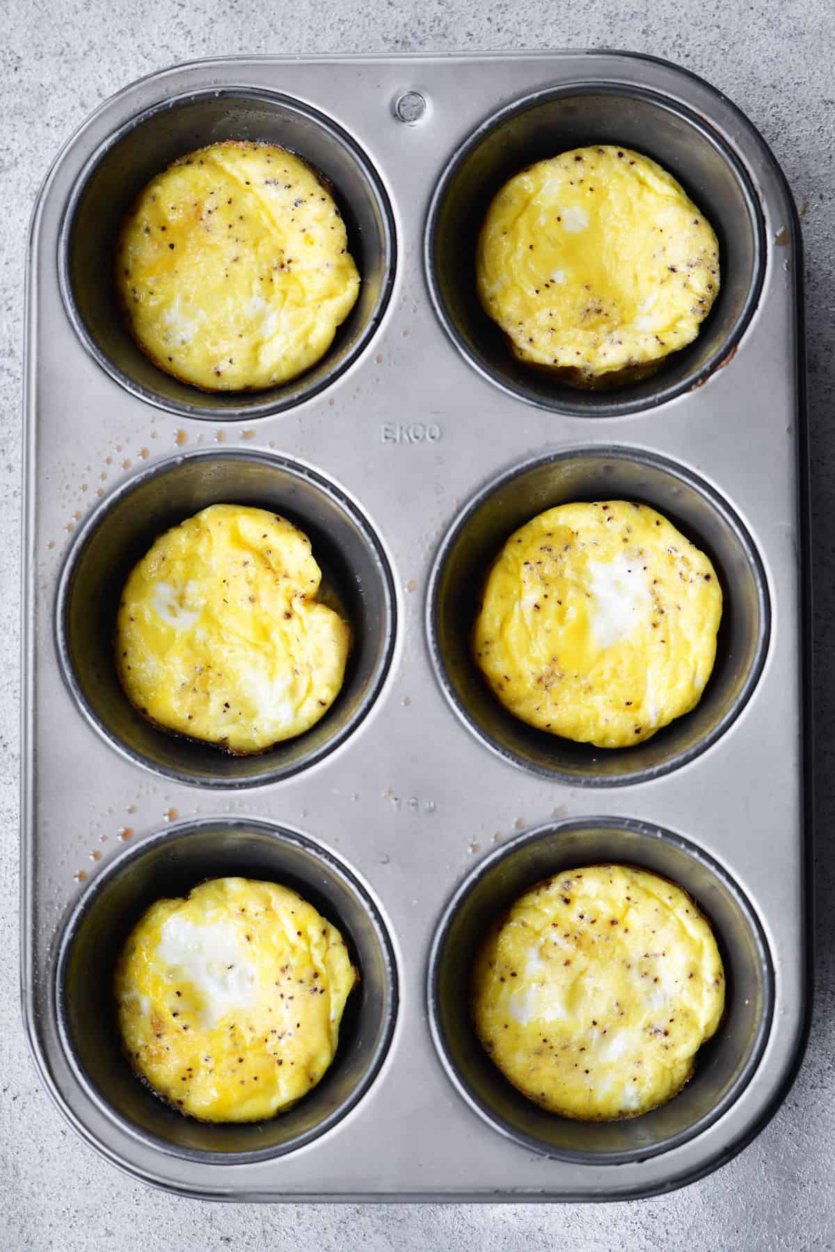 Baked Scrambled Eggs Muffin Tin