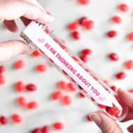 Valentine's Day Ideas with Free Printable Labels for Test Tubes and Treat Bags