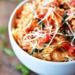 Instant Pot Tomato Basil Spaghetti Squash Recipe