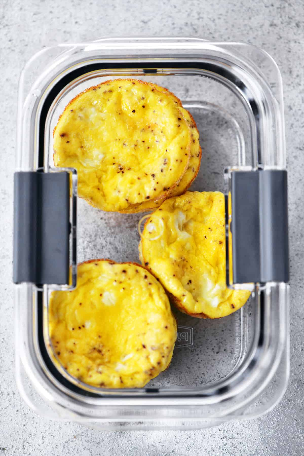 Muffin Tin Scrambled Eggs in container