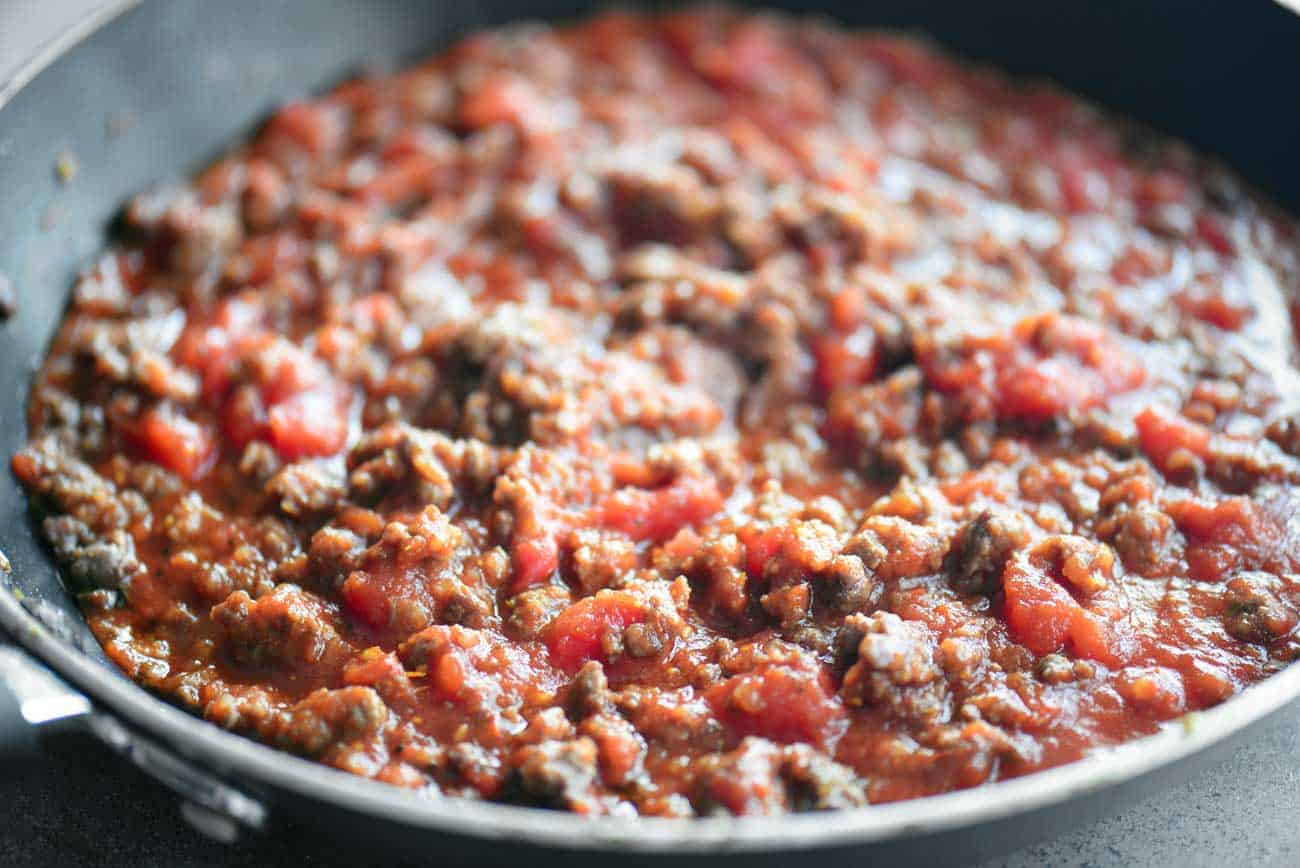 meat sauce for million dollar spaghetti squash