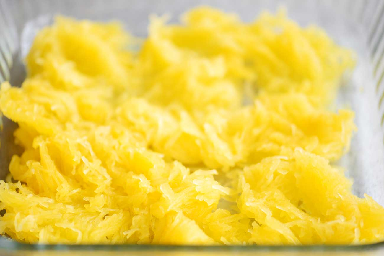 cooked spaghetti squash for million dollar spaghetti squash casserole
