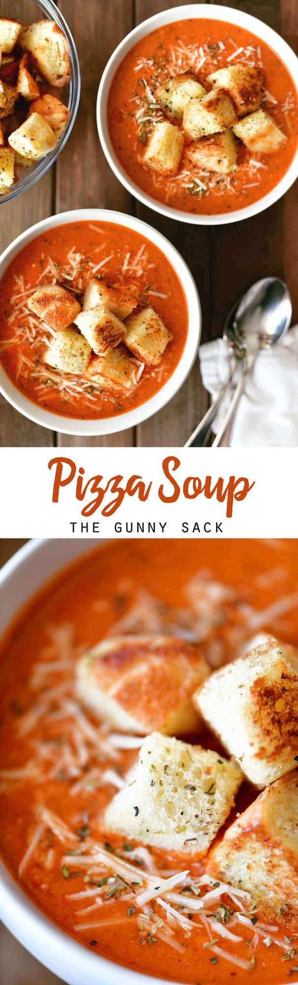 pizza soup collage for pinterest