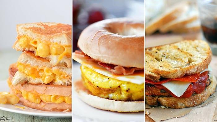 sandwiches collage