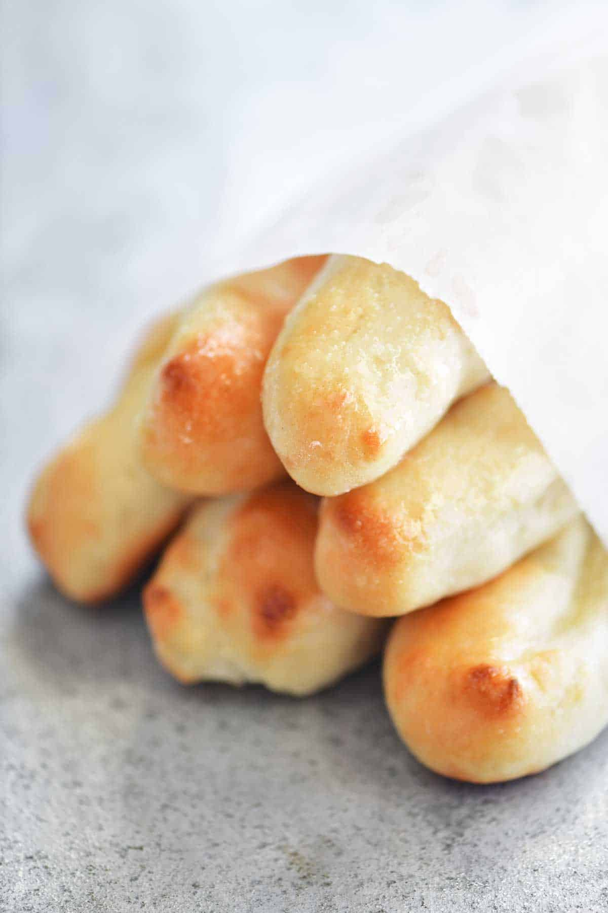 Two Ingredient Dough Breadsticks The Gunny Sack