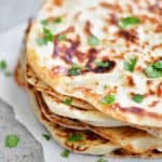 naan flatbread made from two ingredient dough