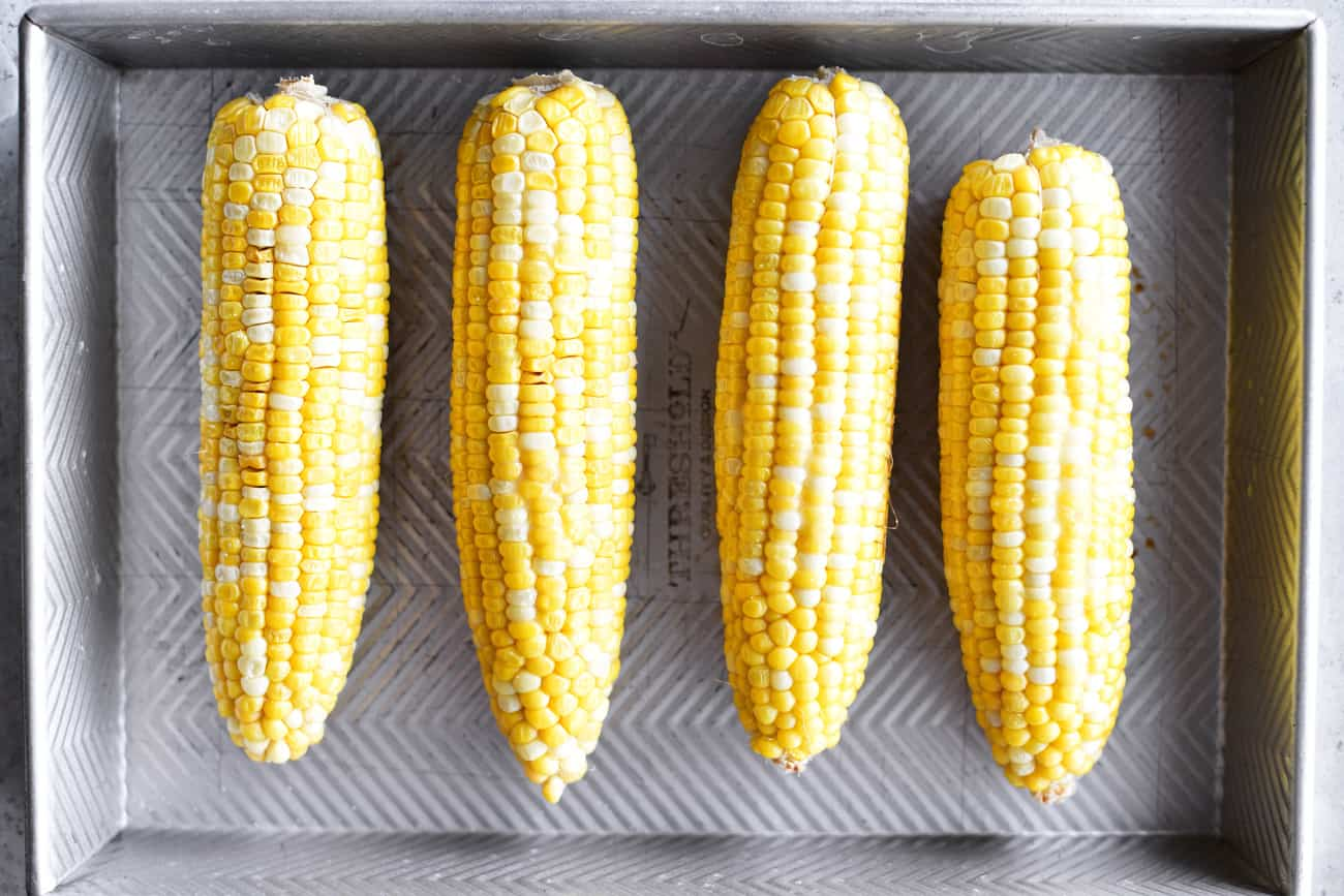 Corn On The Cob Oven Roasted In A Pan The Gunny Sack