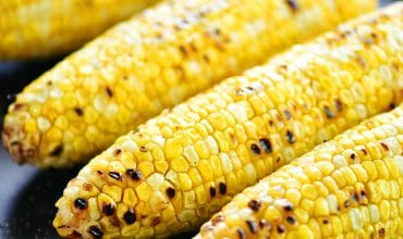 Grilled Corn On The Cob Peeled