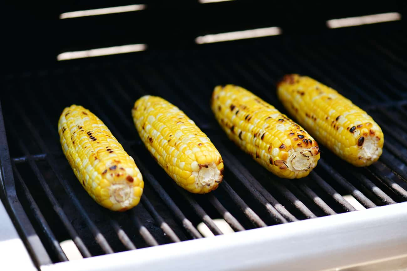 grilled peeled corn on the cob