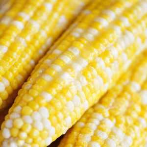Instant Pot corn on the cob buttered