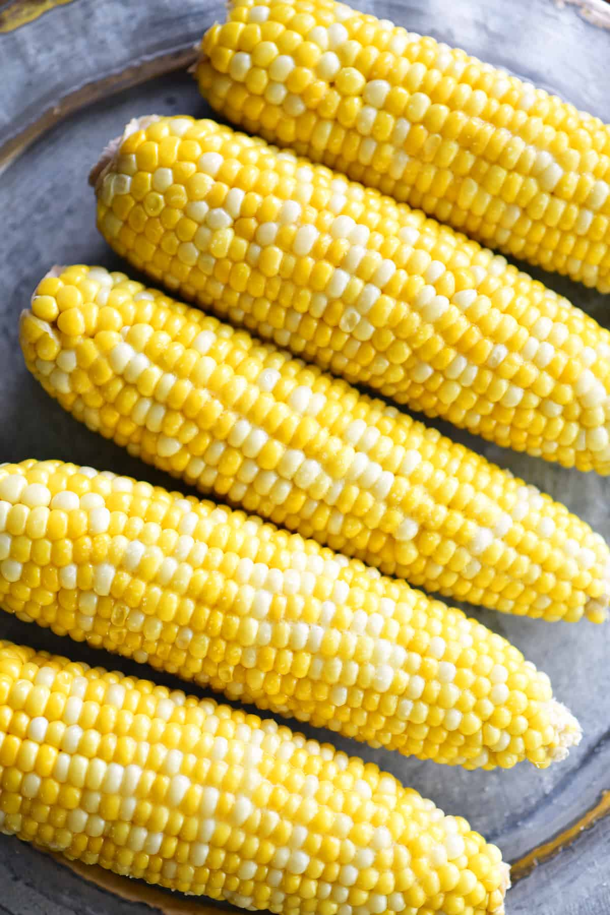 buttered slow cooker corn on the cob