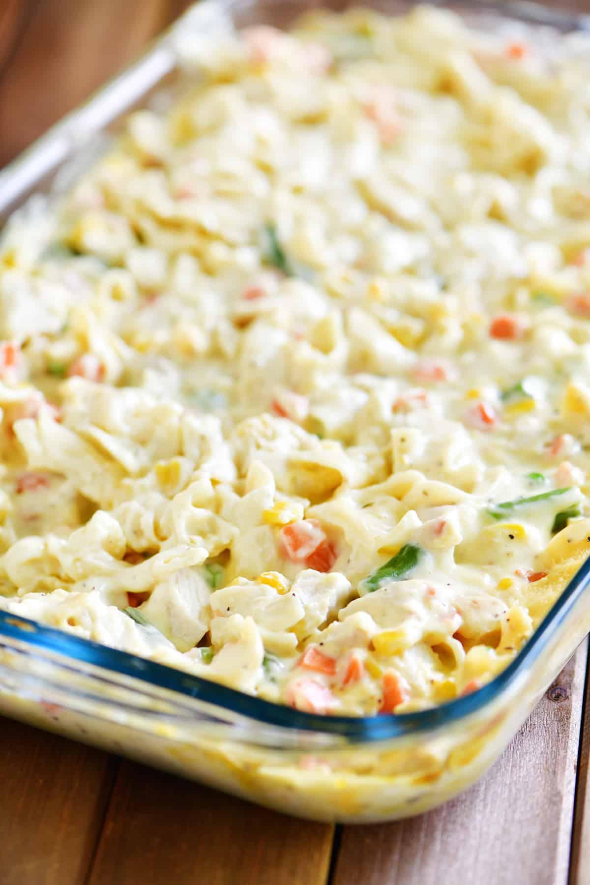 chicken noodle soup casserole pan