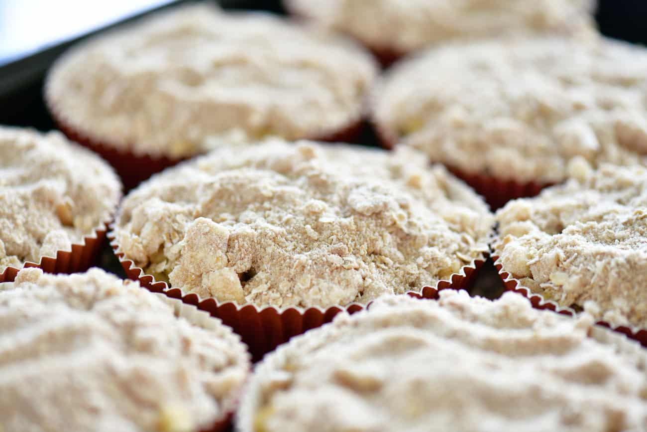 mini apple crisps ready to bake