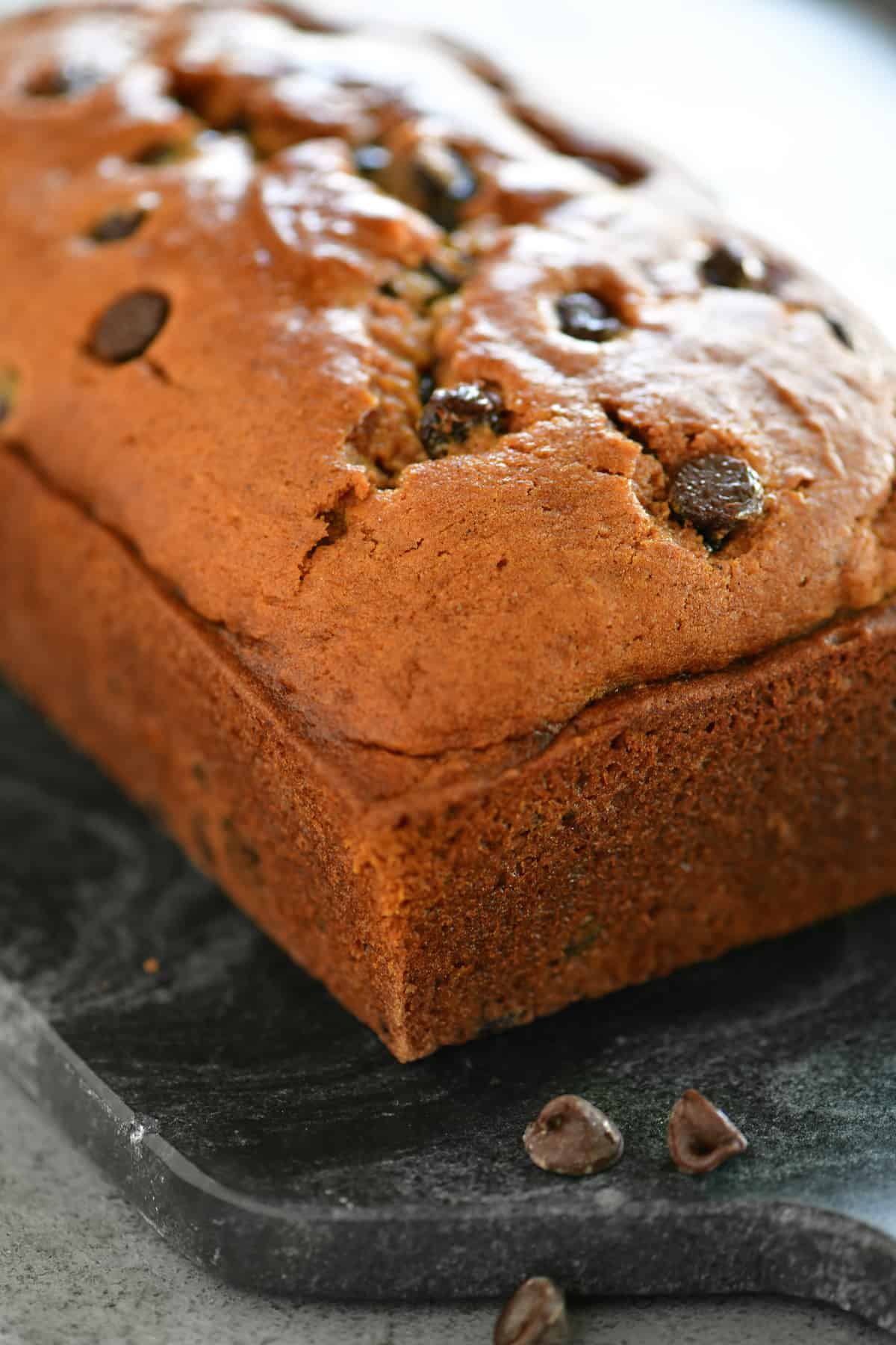 pumpkin chocolate chip bread full loaf