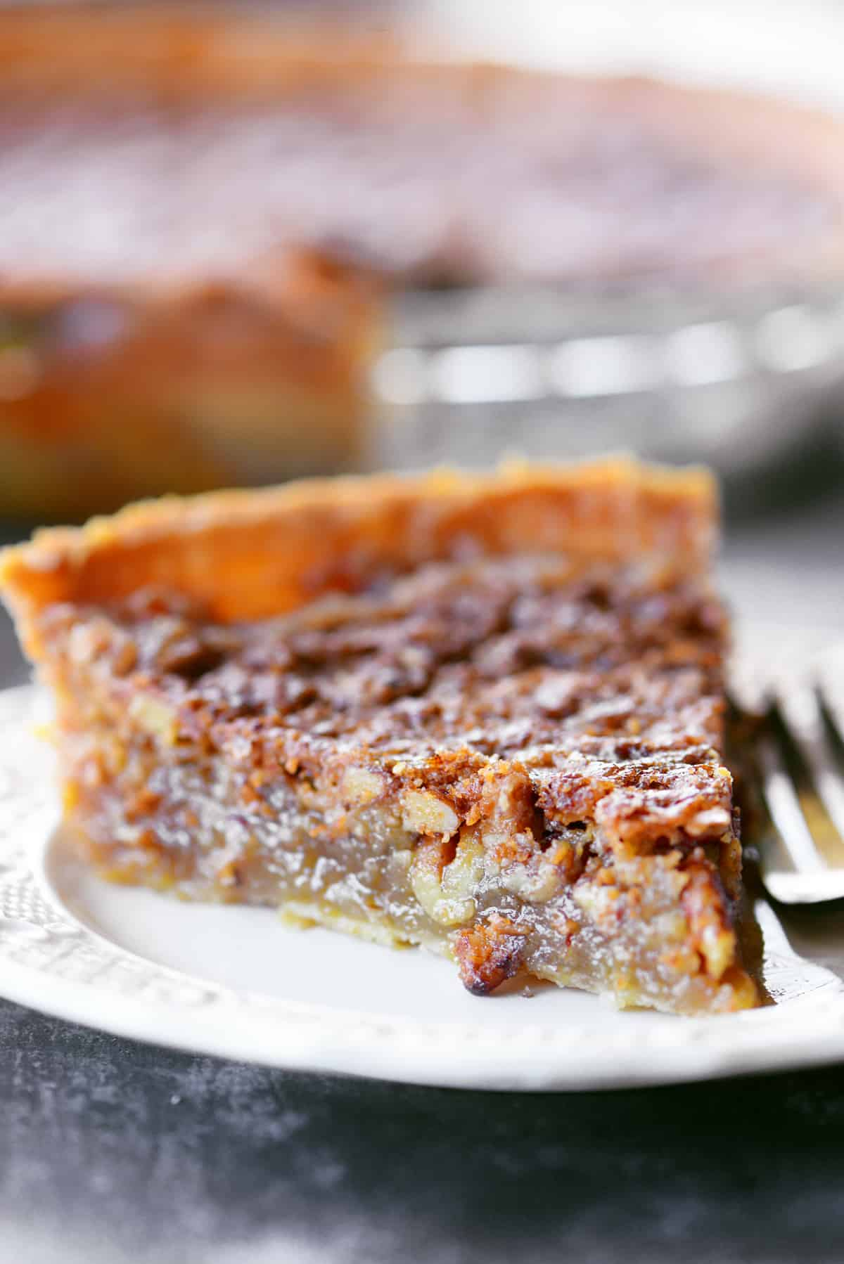 easy pecan pie recipe without corn syrup