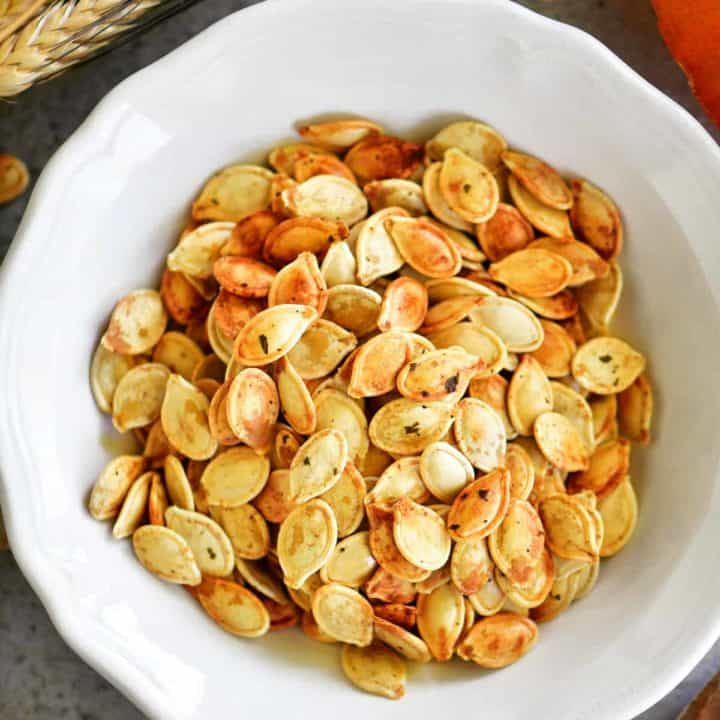 roasting pumpkin seeds with ranch seasoning