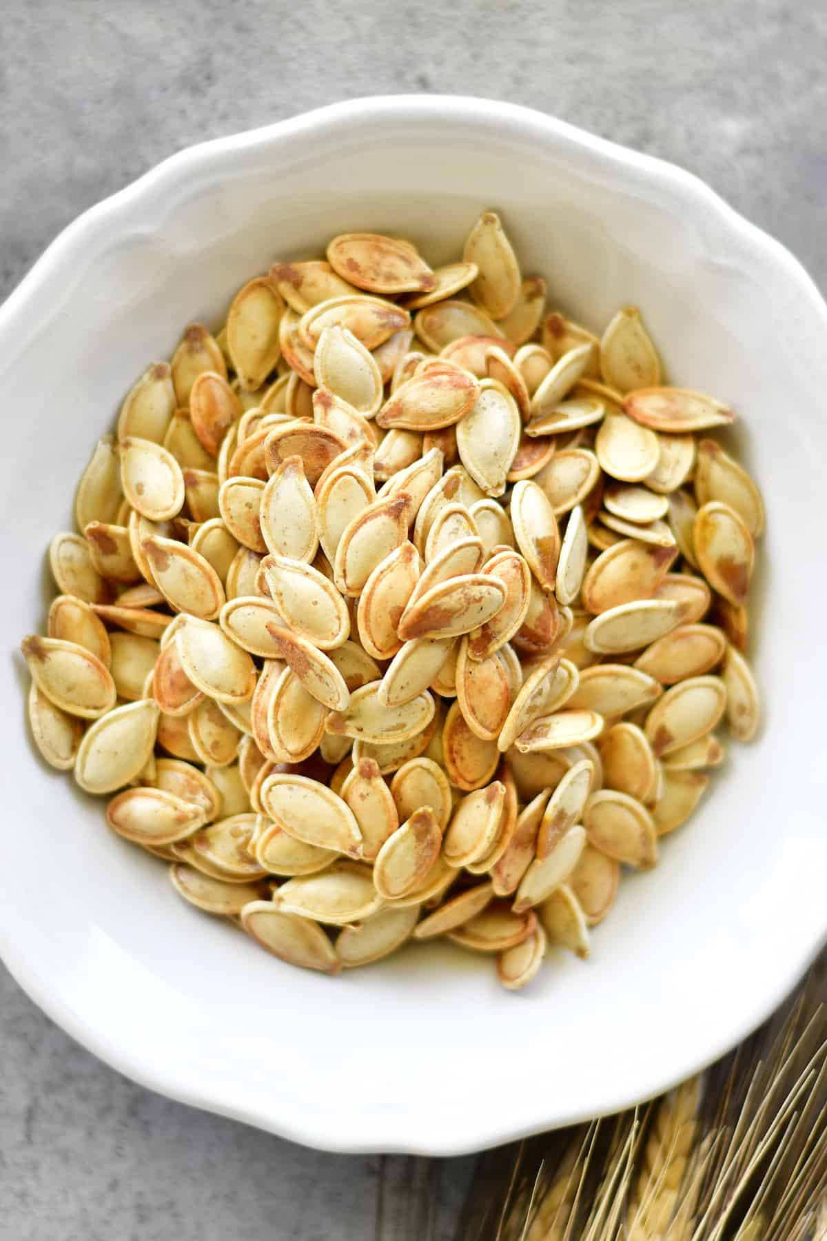 seasoned salt roasted pumpkin seeds recipe