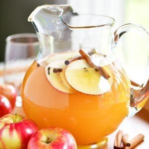 sparkling apple cider pitcher