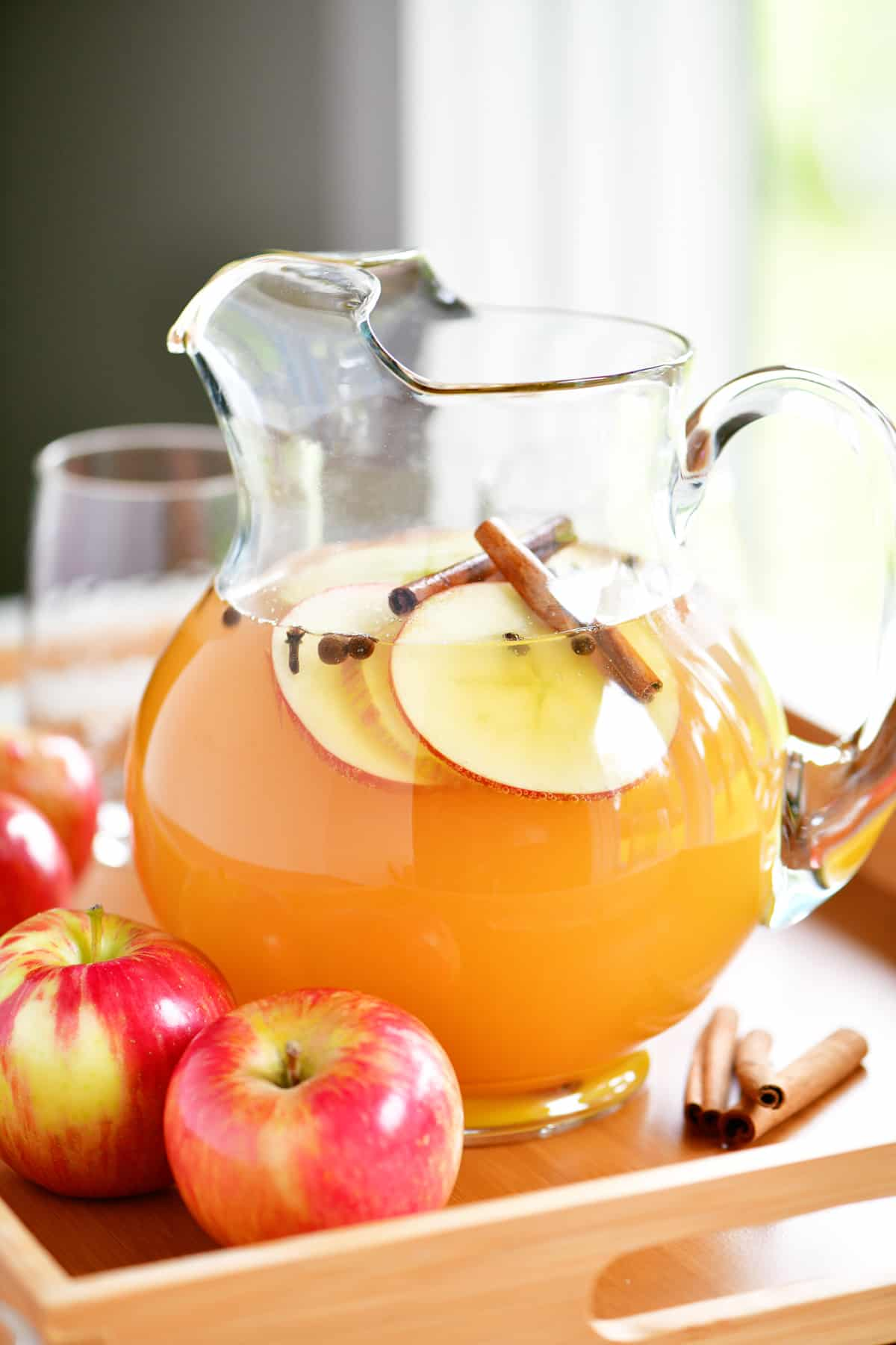 sparkling apple cider pitcher