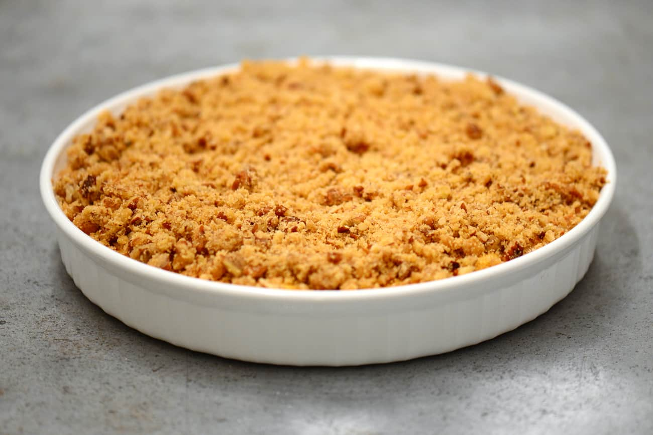 sweet potato casserole topped