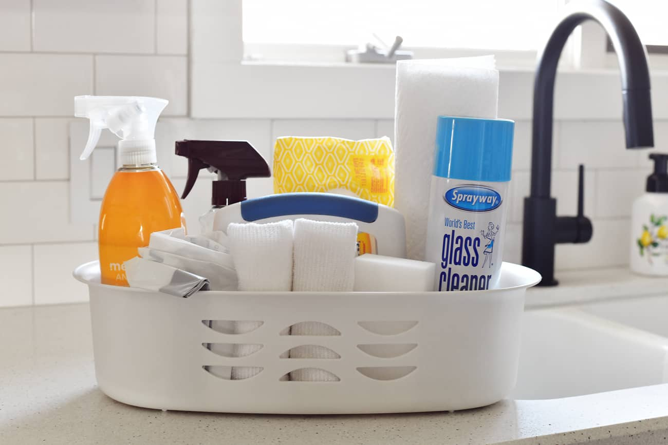 deep cleaning supplies tote