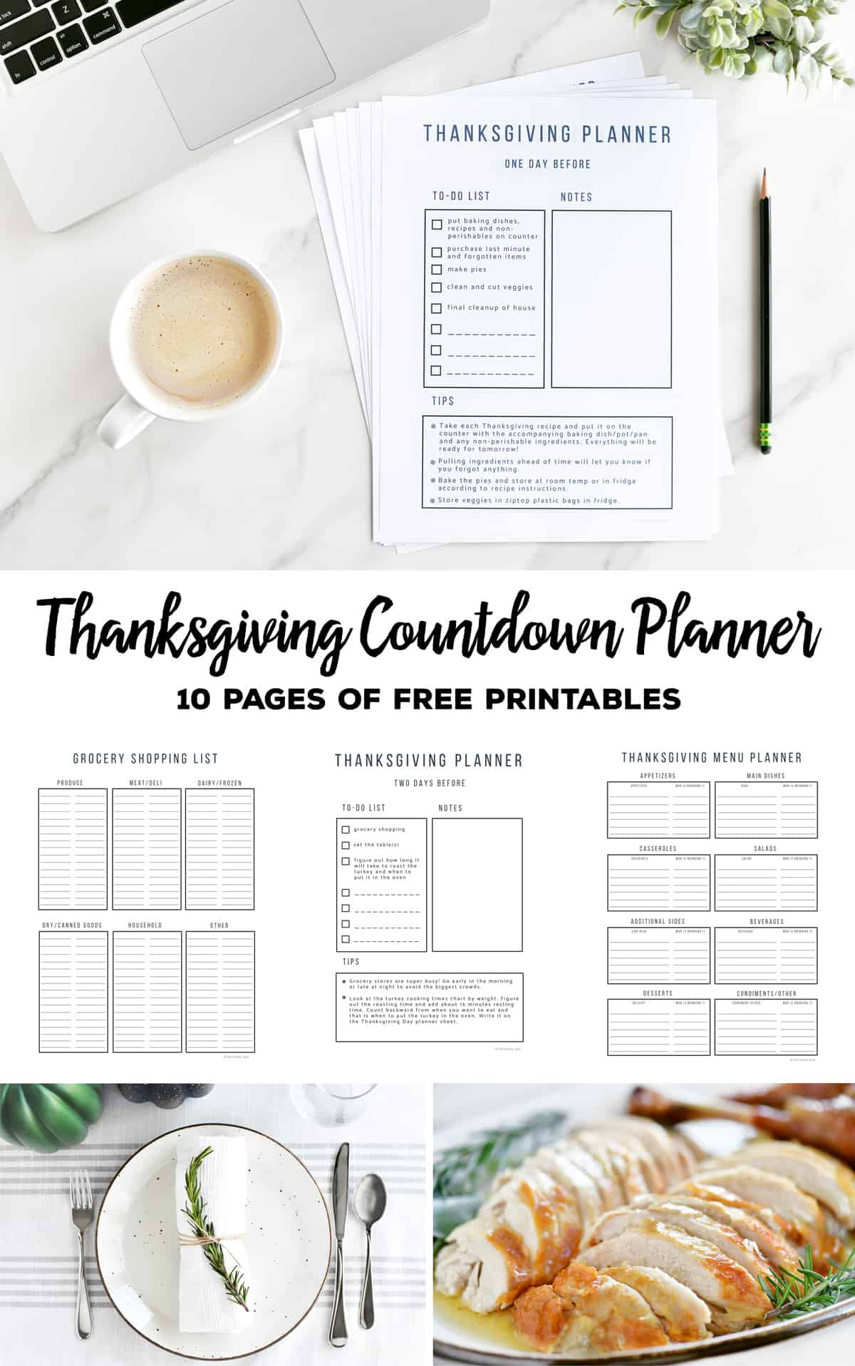 Thanksgiving Countdown Planner and Checklist