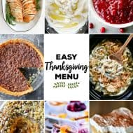 Easy Thanksgiving Menu