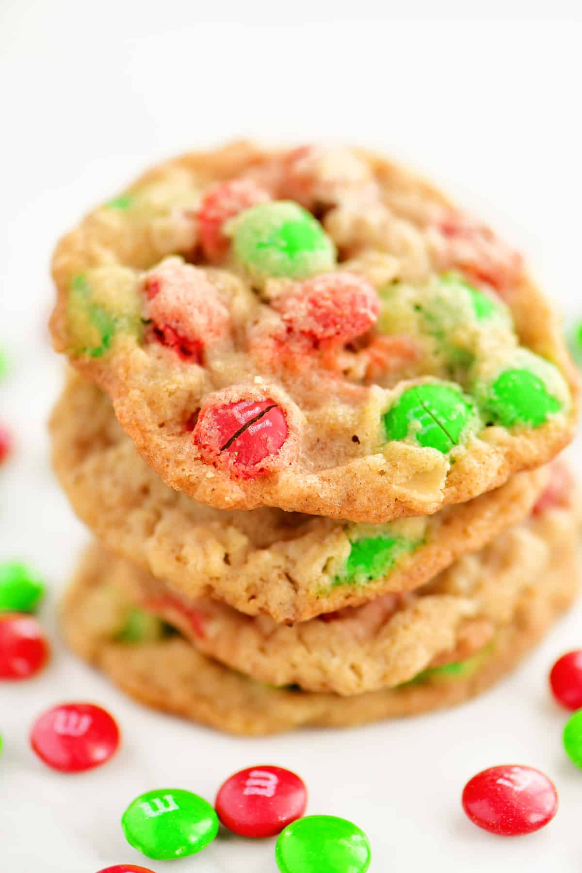 Christmas Oatmeal M M Cookies The Gunny Sack